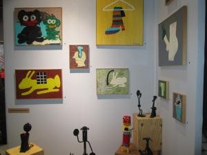 tableaux de l'artiste Juan- Carlos Quintana, galerie philactère