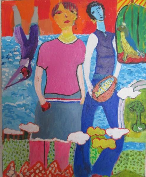 Jardin public,acrylique sur toile,