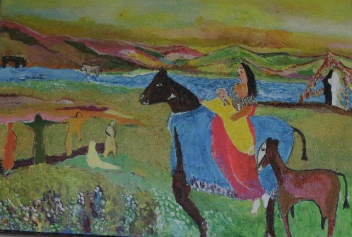 Yougoslavie,, Stéphanie Huguenot, 80x60cm acrylique sur toile,2014 ( collection particulière, allemagne)