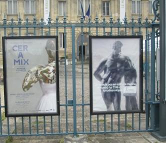 affiches Céramix et affiche décalée pour le musée :Je ne suis pas en salle de musculation , je suis à la cité de la céramique