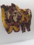 Karel Appel ( 1921- 2006) , dog 1954, céramique émaillée, collection privée