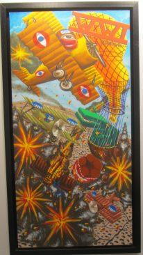Hervé di rosa, wwi world war one,2007,acrylique sur toile, 80 x 160 cm, proposée par art to be gallery au prix de 15 000 euros