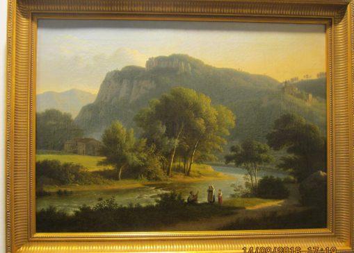 Martin Verstappen, paysage animé vers 1820, peinture à l 'huile sur toile, 40x51 cm, 14000 euros, proposé par Galerie Nord