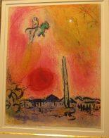 Marc Chagall, lithographie originale de 1962, tirée sur les pierres de l atelier Mourlot frères e.a signée à la mine de plomb 1790 encadrée, proposée par lIncartade