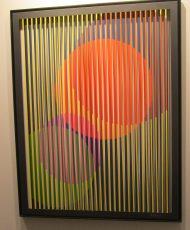 """Arièle Rozowy, collection """"Beyond Bars""""MR4, peinture sur aluminium découpé, 118 x 150 cm, 7600 encadré, proposée par Artop"""