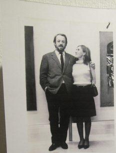 Jacqueline Storme, qui a ouvert sa galerie depuis 1969 et Pierre Olivier