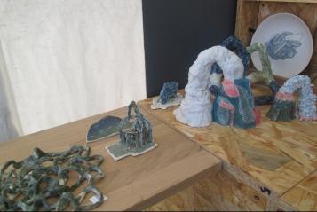 Stand de Laille Marie, biennale de céramique, Steenwerck 2017