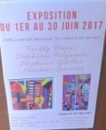Affiche de l'exposition,, abbaye de Belval, juin 2017