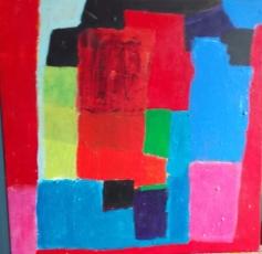 Sans titre , Huguenot stéohanie, acrylique sur toile, 50 x 50cm, 2011