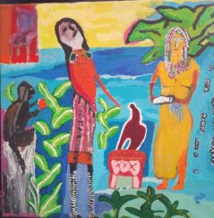Le bienvenu, huguenot stéphanie, 40 x 40 cm ,acrylique sur toile, 2010