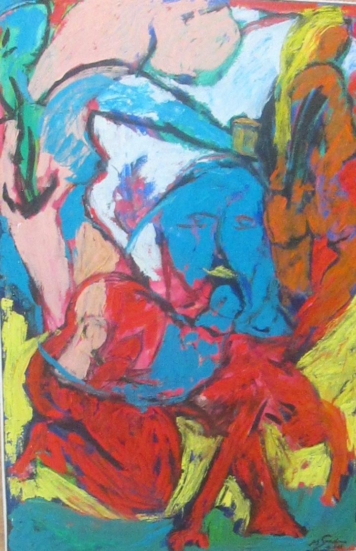 Grande odalisque, Marc Sardina, huile sur toile