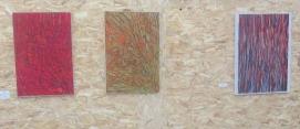 1.Fenêtre, Oscar Lloveras, huile sur papier, marouflage sur toile 2.Conversation,Oscar Lloveras, huile sur papier, marouflage sur toile 3.Histoire d'amour, Oscar Lloveras, huile sur papier, marouflage sur toile