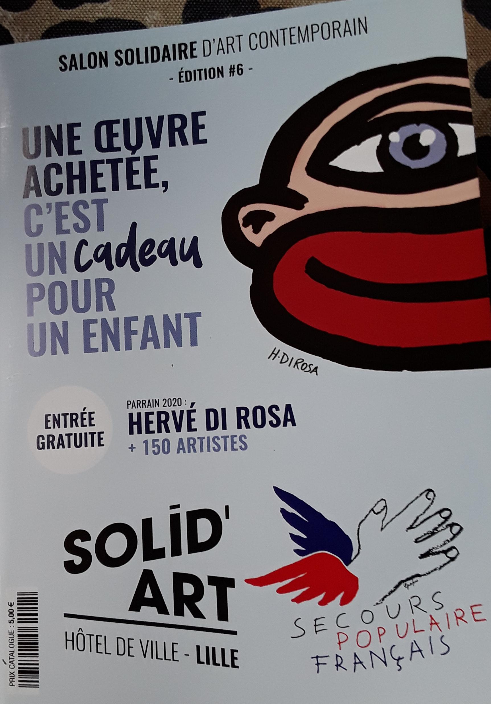 Hervé DI Rosa parrain et créateur de l'affiche du salon 2020